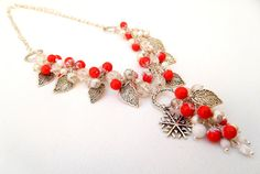 #Christmas  #Red berries in the #snow  Winter by #insoujewelry on Etsy