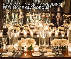 See Colin's Answer: How can I make my wedding feel more glamorous?