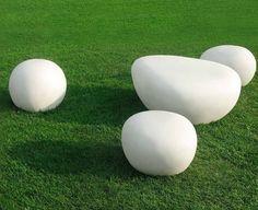 @De Castelli lightweight #concrete ClapStones outdoor seats and tables #garden #outdoor #design