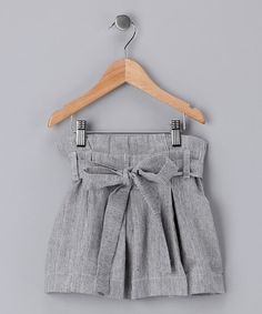 Gray Marine Pleated Skirt #zulily #fall