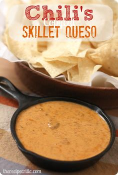 Chili's Skillet Queso : This tastes EXACT to Chili's queso!  You won't be able to get enough of it!!!