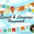 Free! Speech and language homework sheets that are perfect for summer school!  Pages are black and white, so no prep is required!  Check back for new pro...