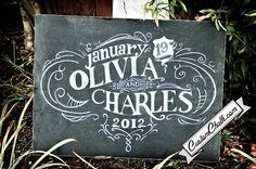 Wedding chalkboard art  wedding chalk board  by customchalk, $119.00