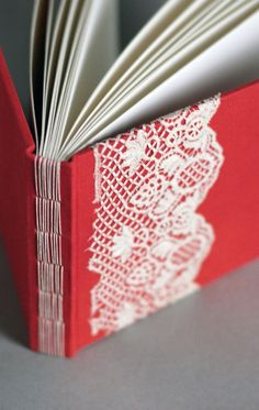I love the lace and binding on this book.