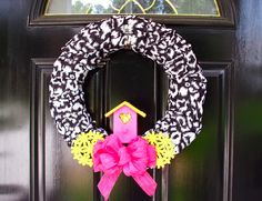 Make a cute summery wreath from dollar store scarves