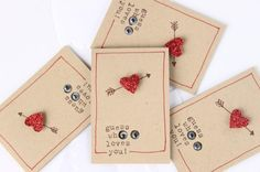 Love Cards, Love Notes, Note Cards, Little Surprise Owl Love Notes (4) with envelopes $8 at http://www.etsy.com/listing/66131679/love-cards-love-notes-note-cards-little