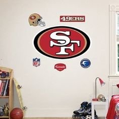 Ideas for isaacs bedroom on pinterest san francisco for 49ers wall mural