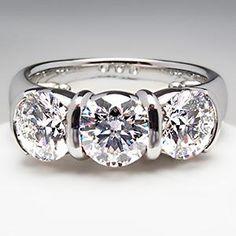 Tiffany & Co Etoile Three Stone Diamond Ring