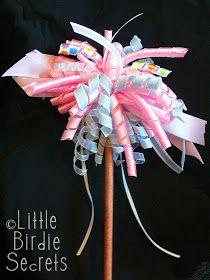 Little Birdie Secrets: how to make a fairy princess ribbon wand