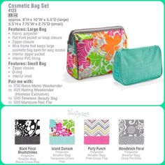 Cosmetic Bag Set - New colors and design for Spring