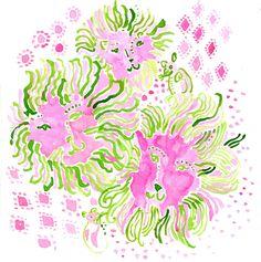 lion, inspiration, lilly pulitzer, pink, lilli 5x5, prints, print studio, lilli print, lilli pulitzerprint
