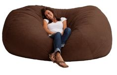 Comfort Research 7-Foot XXL Fuf in Comfort Suede This is the chair that brought bean bags out of the 1970s and into the bedrooms and dorm rooms all over the world. The first one to use patented memory foam, the Fuf is one-of-a-kin
