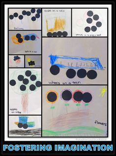 Fostering Imagination in Children: what can we do with ten black dots?