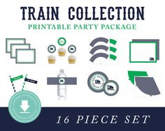 INSTANT DOWNLOAD Train Printable Party Package by paigesimple, $40.00
