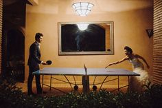 How about a spot of ping pong on your wedding night?!
