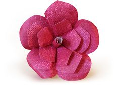 Flor de papel color púrpura. La podríamos hacer con papeles de más colores y de diferentes texturas. #123ManualidadES