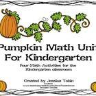 Pumpkin Math Unit Kindergarten