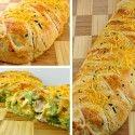 Broccoli cheddar chicken croissant braid