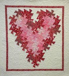 Heart pattern from quilt n sew website.