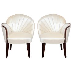 1stdibs - Pair of Glamourous Hollywood Channel Tufted Shell back Chairs explore items from 1,700  global dealers at 1stdibs.com