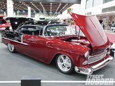 '55 Chevy Custom @ 2012 Detroit Autorama. Awesome American Classic!