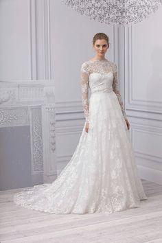 Monique Lhuillier #wedding #dress #lace #bride