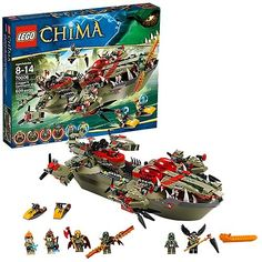 The Lego range has come a long way in terms of how many options are now available. Unlike the basic creative inter-locking pieces that Lego originally designed, the new age of design options have escalated to a new level going beyond the imagination. The Lego Chima Cragger Command Ship (7006) is one of these newest building designs that children will love. Let's have a closer look at this new Lego toy. Check out our Best Movies Ever Holiday Shop for gift ideas for everyone in your life for any o