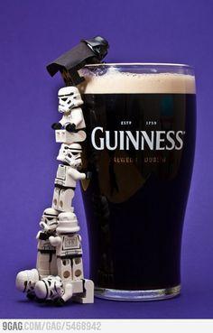 Join the dark side Lego Luke .. We have Guinness..