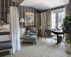 Hampton Showhouse by Celerie, Nasturtium sisal