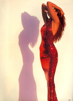 """The Straight and Narrow"", Vogue US, September 1989 - Photographer : Herb Ritts - Model : Stephanie Seymour"
