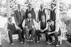 loving these black & white groomsmen | http://www.mywedding.com/articles/ali-and-cybils-elegant-sonoma-ca-wedding-by-viera-photographics/