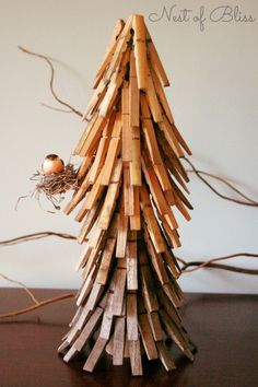 Clothespin Christmas Tree from Nest of Bliss This could be a great activity for the kids!