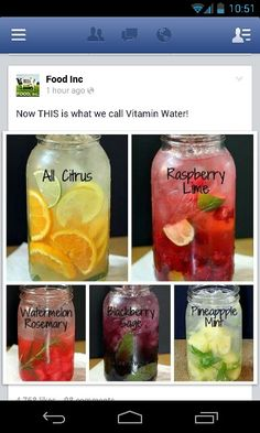 Fruit-infused water!