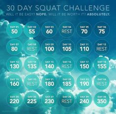 fit, intense squat challenge, challenges, better chart, 30 day squat challenge, different squats, health, bodi challeng, 30 squat day challenge