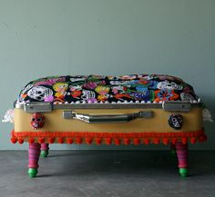 Kitty or Doggie Upcycled Day of the Dead by DustbunnyVintage