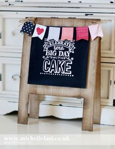 Big Day Easel-card b