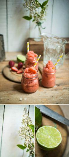 Strawberry & Mint Riesling Slushie