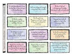 Free Printable Scripture Verses | Beautifully Rooted: Scripture Memory Cards- Free Printable