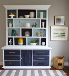 DIY Color Block Hutch (how to build)
