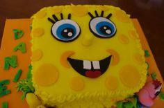 Bob esponja,tarta infantil.
