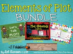 PLOT BUNDLE (includes PowerPoint, craftivities, foldables, and task cards/worksheets) $