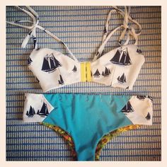 swim suites, sailboat bikini, fashion, sailboats, holiday clothes