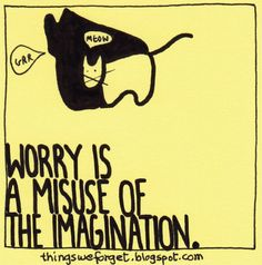 Things We Forget: 1141: Worry is a misuse of imagination.