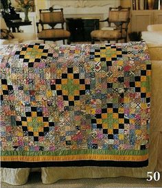 scrappy steps to the altar quilt, gorgeous styling (image from american patchwork and quilting)