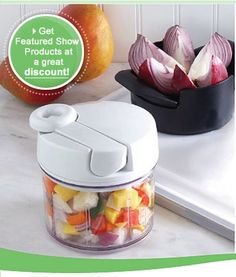New Kitchen gadgets....the fruit cutter works great for many types of fruit....the processor makes tater salad super easy and salsa as well.