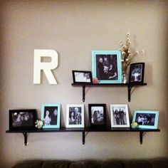 Picture shelf! Pinterest inspired! :)