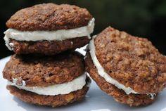 Chocolate oatmeal cream filled cookies
