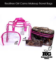 Realtree Girl Camo Travel Makeup Bags - Now Available! #realtreegirl