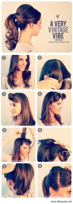 poni, hair tutorials, vintage hairstyles, bridesmaid hair, interest hairstyl, long hair, hairstyl tutori, hair style, vintage style