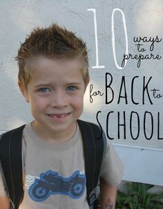 Back to school!!! Love these tips.